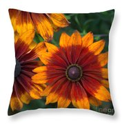 Perfection In Red And Orange Throw Pillow