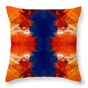 Perfectly Balanced Philosophies Abstract Pattern Art By Omaste Witkowski Throw Pillow
