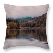 Perfectly Cloudy Lake Throw Pillow