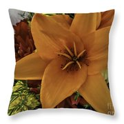 Perfectly Peachy Throw Pillow