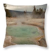 Perforated Pool In West Thumb Geyser Basin Throw Pillow