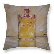 Perfume-allure Throw Pillow