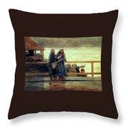 Perils Of The Sea 1881 Throw Pillow