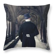 Period Gentleman Throw Pillow