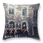 Period Soldiers Throw Pillow by Joana Kruse
