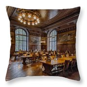 Periodical Room At The New York Public Library Throw Pillow