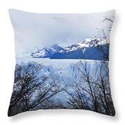 Perito Moreno Glacial Landscape Throw Pillow