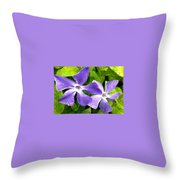 Periwinkle Blue Dew Throw Pillow