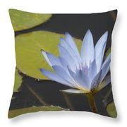 Periwinkle Lily Throw Pillow
