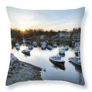 Perkins Cove Throw Pillow