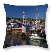 Perkins Cove Ogunquit Maine Throw Pillow