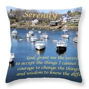 Perkins Cove Serenity Throw Pillow