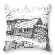 Perkins Maple Sugar House Throw Pillow