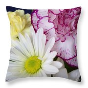Perky Posies Throw Pillow