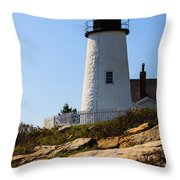 Permaquid Point Lighthouse Throw Pillow
