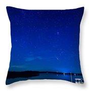 Perseid Meteor Throw Pillow