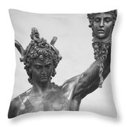 Perseus With Head Of Medusa Throw Pillow
