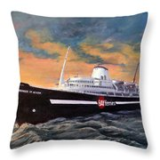 Perseverance On The Bay Throw Pillow