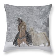 Persevere Through All Throw Pillow by Diane Bohna