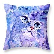 Persian Blue Throw Pillow