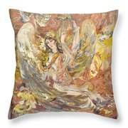 Persian Lady Playing Chang Throw Pillow