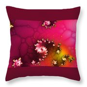 Persistent Flowers Throw Pillow