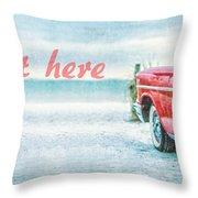 Free Personalized Custom Beach Art Throw Pillow