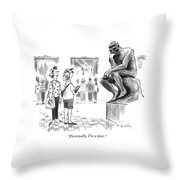 Personally, I'm A Doer Throw Pillow by Mike Twohy