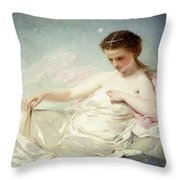 Personification Of The Sciences Throw Pillow by Charles Chaplin