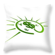 Perspective Currency Throw Pillow