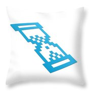 Perspective Hour Glass Throw Pillow by Aged Pixel