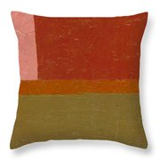 Perspective In Color Collage 12 Throw Pillow by Michelle Calkins