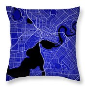 Perth Street Map - Perth Australia Road Map Art On Colored Backg Throw Pillow