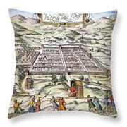 Peru: Cuzco, 1572 Throw Pillow