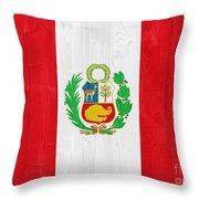 Peru Flag Throw Pillow