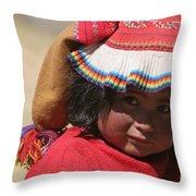Peruvian Child Throw Pillow