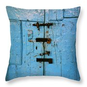 Peruvian Door Decor 8 Throw Pillow