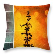 Pervoskia Collage Aflame Throw Pillow