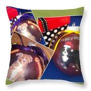 Pet Christmas Tree Ornaments Throw Pillow