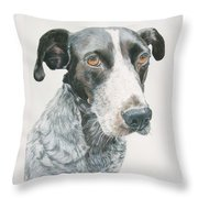 Pet Portrait Dog Art Print Hire Commission Pet Portrait Artist Throw Pillow