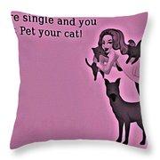Pet Your Cat Throw Pillow