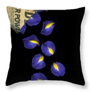 Petal Chips Throw Pillow