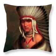Petalesharro. Generous Chief  Pawnee Throw Pillow