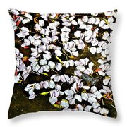 Petals In The Pond Throw Pillow