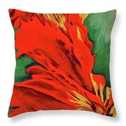 Petals Of Fire Two Throw Pillow