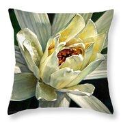 Petals Of Ivory Throw Pillow