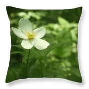 Petals Of White Throw Pillow
