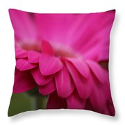Petals Pink Throw Pillow