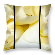Petals Triptych Throw Pillow
