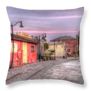 Petaluma Morning Throw Pillow by Bill Gallagher